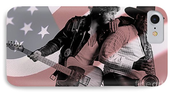 Bruce Springsteen Clarence Clemons IPhone 7 Case by Marvin Blaine