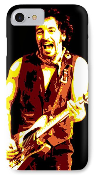Bruce Springsteen iPhone 7 Case - Bruce Springsteen by DB Artist