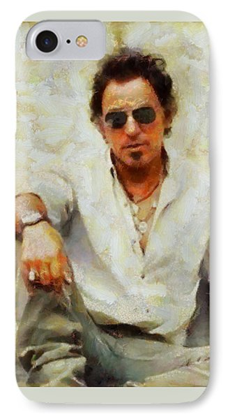 Bruce Springsteen Phone Case by Elizabeth Coats