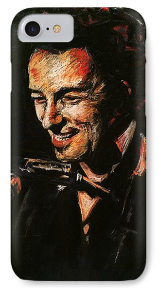 Bruce Springsteen IPhone Case by Melissa O'Brien