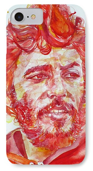 Bruce Springsteen - Watercolor Portrait.13 IPhone Case by Fabrizio Cassetta