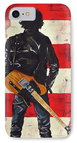 Bruce The Boss Springsteen IPhone Case by Francesca Agostini
