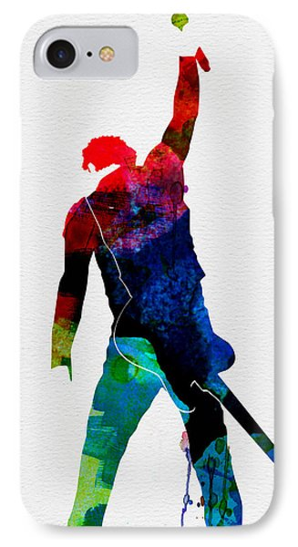 Bruce Watercolor IPhone 7 Case by Naxart Studio