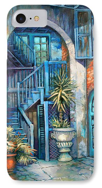 Brulatour Courtyard IPhone Case by Dianne Parks