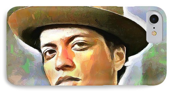 Bruno Mars IPhone Case by Wayne Pascall
