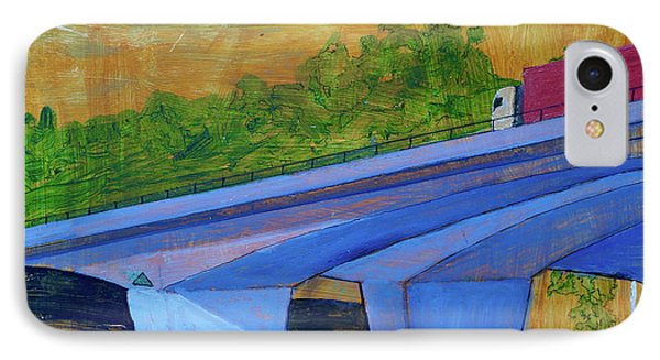 IPhone Case featuring the painting Brunswick River Bridge by Paul McKey
