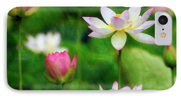 IPhone Case featuring the photograph Brushed Lotus by Edward Kreis