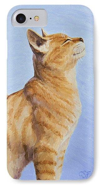 Brushing The Cat Phone Case by Crista Forest