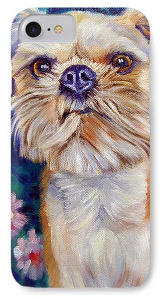 Griffon iPhone 7 Case - Brussels Griffon by Lyn Cook