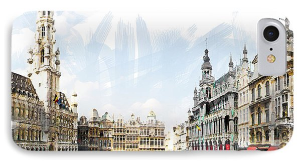 IPhone Case featuring the photograph Brussels Grote Markt  by Tom Cameron