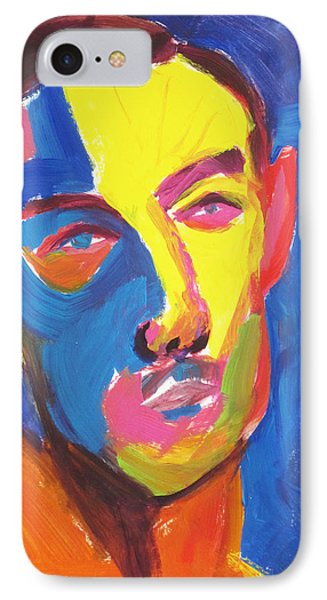 IPhone Case featuring the painting Bryan Portrait by Shungaboy X