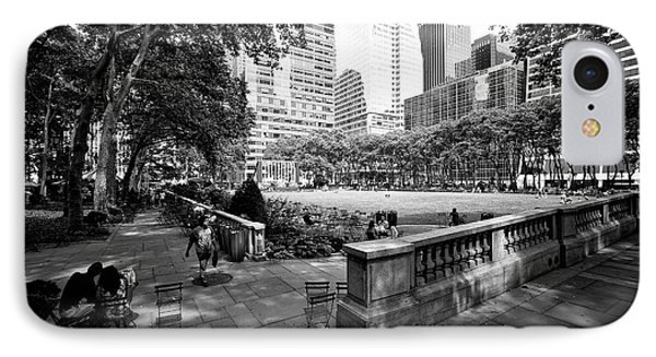 Bryant Park Angles IPhone Case by John Rizzuto