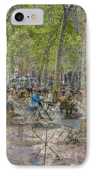 Bryant Park Collage 2 IPhone 7 Case by Dave Beckerman