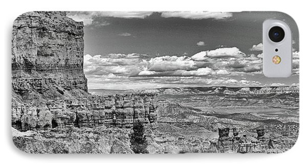 Bryce Canyon In Black And White Phone Case by Nancy Landry