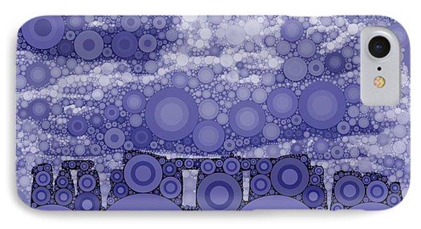 Bubble Art Stonehenge IPhone Case by John Springfield