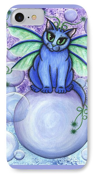 Bubble Fairy Cat IPhone Case by Carrie Hawks