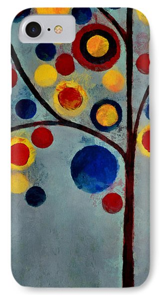 Bubble Tree - Dps02c02f - Left IPhone Case by Variance Collections