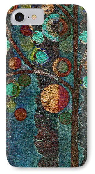 Bubble Tree - Spc02bt05 - Left IPhone Case by Variance Collections