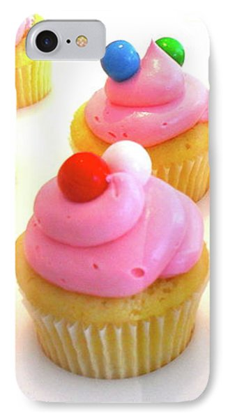 Bubblegum Cupcakes IPhone Case by Beth Saffer