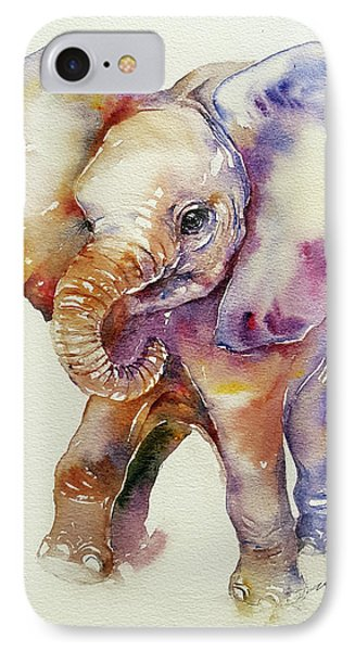Bubbles Baby Elephant IPhone Case by Arti Chauhan