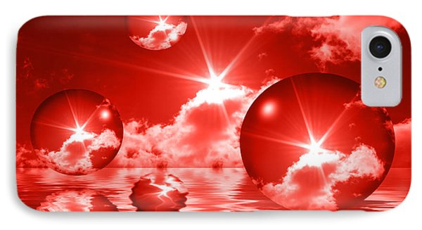 IPhone Case featuring the photograph Bubbles In The Sun - Red by Shane Bechler