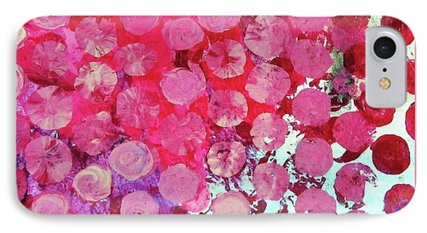 IPhone Case featuring the mixed media Bubbles by Mary Ellen Frazee