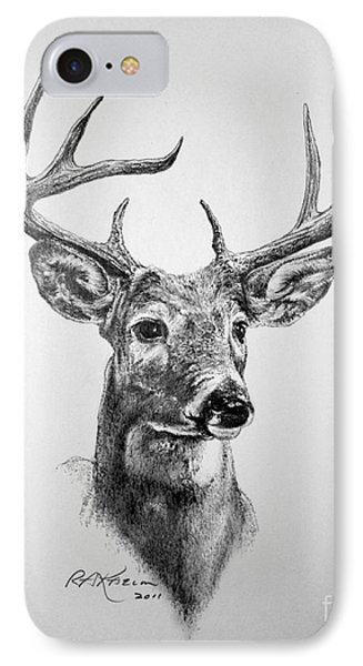Buck Deer IPhone Case by Roy Anthony Kaelin