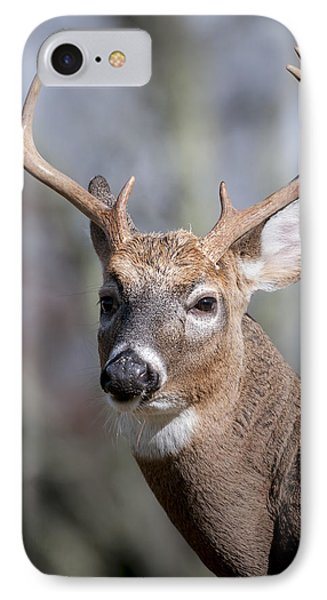 IPhone Case featuring the photograph Buck Headshot by Tyson and Kathy Smith