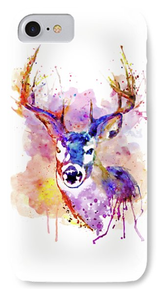 IPhone Case featuring the mixed media Buck by Marian Voicu
