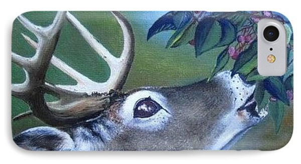 IPhone Case featuring the painting Buck by Mary Ellen Frazee