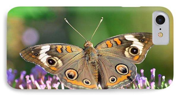 Buckeye Butterfly IPhone Case by Kathy Eickenberg