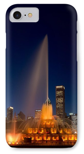 Buckingham Fountain Chicago Phone Case by Steve Gadomski