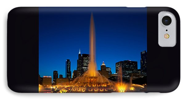 Buckingham Fountain Nightlight Chicago IPhone Case by Steve Gadomski