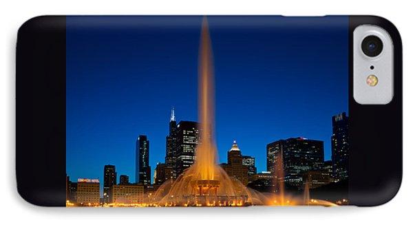 Buckingham Fountain Nightlight Chicago IPhone 7 Case by Steve Gadomski