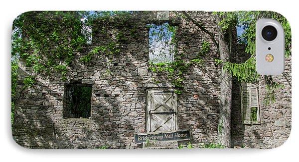 Bucks County Ruin - Bridgetown Mill House IPhone Case by Bill Cannon