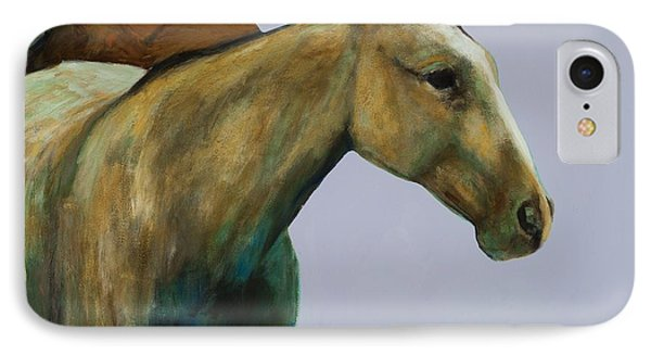 IPhone Case featuring the painting Buckskin by Frances Marino