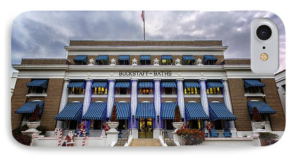 IPhone Case featuring the photograph Buckstaff Bathhouse - Christmas by Stephen Stookey