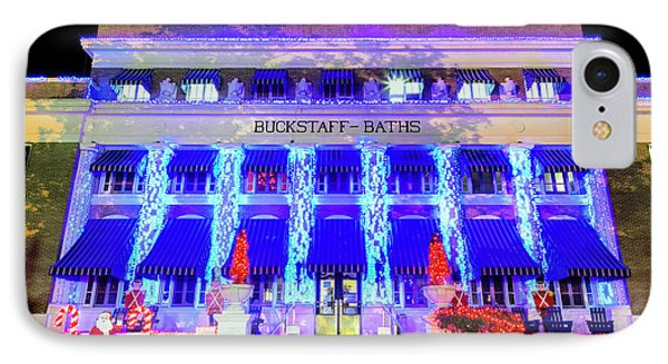 IPhone Case featuring the photograph Buckstaff Baths - Christmastime by Stephen Stookey