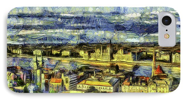 Budapest City Vincent Van Gogh IPhone Case