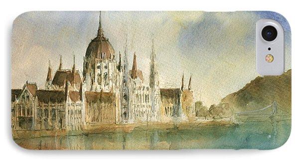 Budapest Cityscape IPhone Case by Juan Bosco