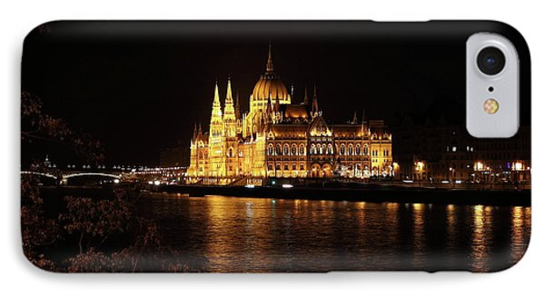 IPhone Case featuring the digital art Budapest - Parliament by Pat Speirs