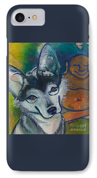 Buddha And The Divine Husky No. 1327 IPhone Case