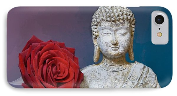 Buddha And Rose IPhone Case by Pete Trenholm