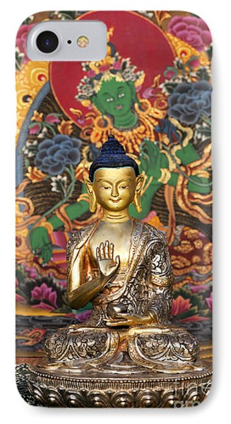 Buddha Blessing IPhone Case by Tim Gainey