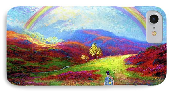 Buddha Chakra Rainbow Meditation IPhone Case by Jane Small