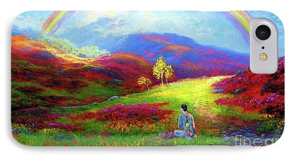 Impressionism iPhone 7 Case - Buddha Chakra Rainbow Meditation by Jane Small