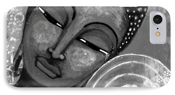 Buddha In Grey Tones IPhone Case by Prerna Poojara