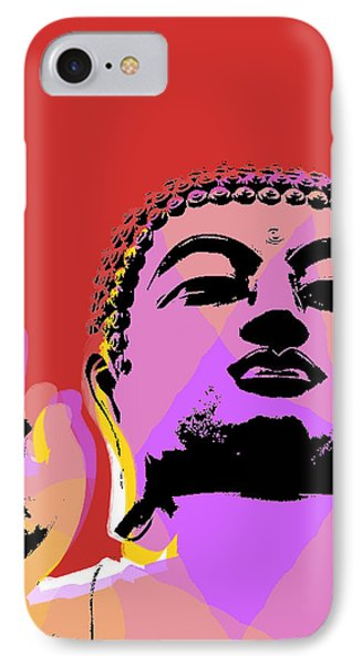 Buddha Pop Art  IPhone Case by Jean luc Comperat