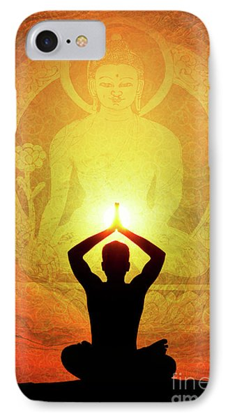 Buddha Prayer IPhone Case by Tim Gainey