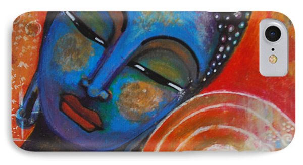 IPhone Case featuring the painting Buddha by Prerna Poojara